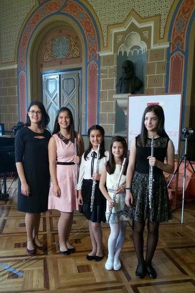 Učesnice 14. smotre talenata u Sremskim Karlovcima