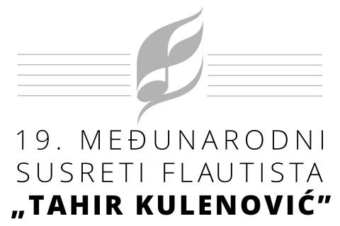 Logo 19. međunarodnih susreta flautista